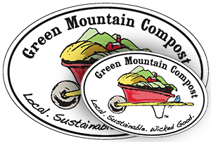 Green Mountain Compost euro stickers
