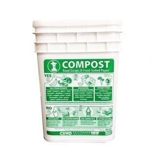 Drop-off composting bucket